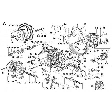 15LD 500 - BASAMENTO/FLANGIATURA/COMANDI/ASTA LIVELLO/POMPA OLIO/LAMIERATI/AVVIATORE AUTOAVVOLGENTE/SERIE GUARN (A)
