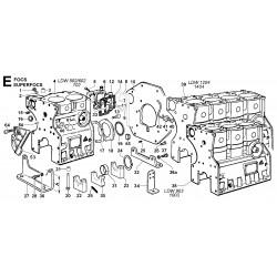 LDW 502 - BASAMENTO/FLANGIA LATO VOLANO/PIEDI (E)