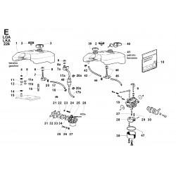 LGA 226 - CIRCUITO COMBUSTIBILE/SERBATOIO/CARBURATORE (E)