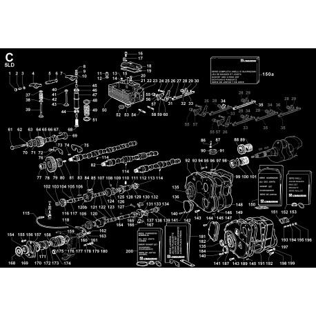 5LD 825-3 - TESTA/CAPPELLO BIL./DECOMPRESSIONE/VALVOLE/DISTRIBUZIONE/REG.GIRI (C)