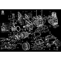 6LD 260-AB K 367900 - BIELLA/PISTONE/CILINDRO/ALBERO GOM./VOLANO/BASAMENTO/FLANGIATURA/PIEDI (B)