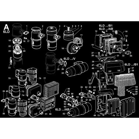 6LD 260-AB K 367910 - ASPIRAZIONE E SCARICO (A)