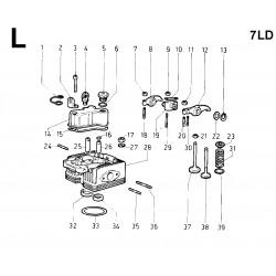 7LD 600 - TESTA/CAPPELLO BILANCERI/BILANCIERI/VALVOLE (L)