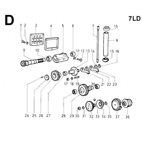 7LD 740 - DISTRIBUZIONE/REGOLATORE DI GIRI/ALBERO CONTROROTANTE (D)