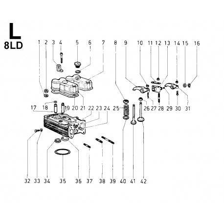 8LD 600-2 - TESTA/CAPPELLI BILANCIERI/BILANCERI/VALVOLE (L)