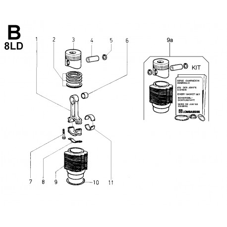 8LD 665-2 - BIELLA/PISTONE/CILINDRO (B)