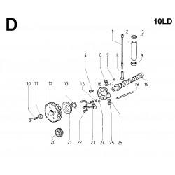 10LD 400-2 - DISTRIBUZIONE/REGOLATORE DI GIRI (D)