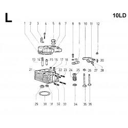 10LD 400-2 - TESTA/CAPPELLI BILANCIERI/BILANCERI/VALVOLE (L)