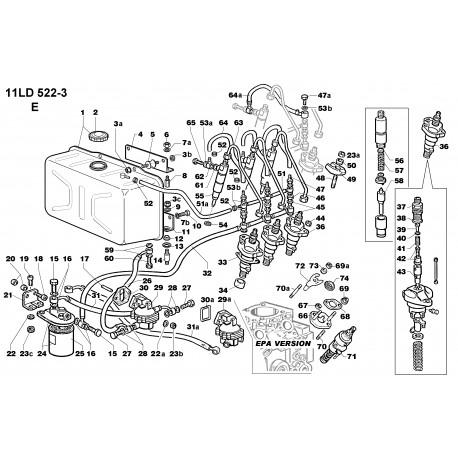 11LD 522-3 - CIRCUITO COMBUSTIBILE (E)