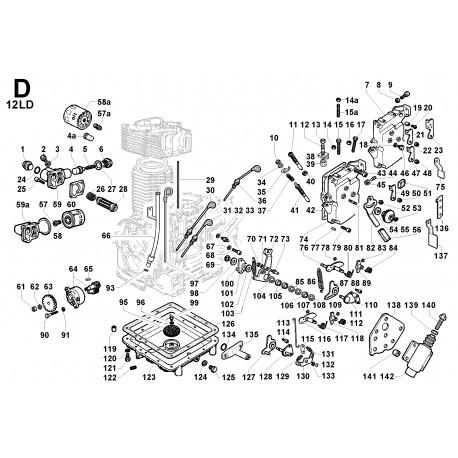 12LD 435-2 - COMANDI/CIRCUITO LUBRIFICAZIONE (D)