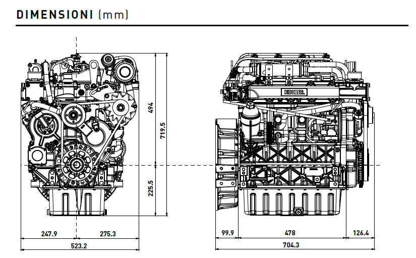 diesel kohler engine kdi 2504 tcr  common rail engine