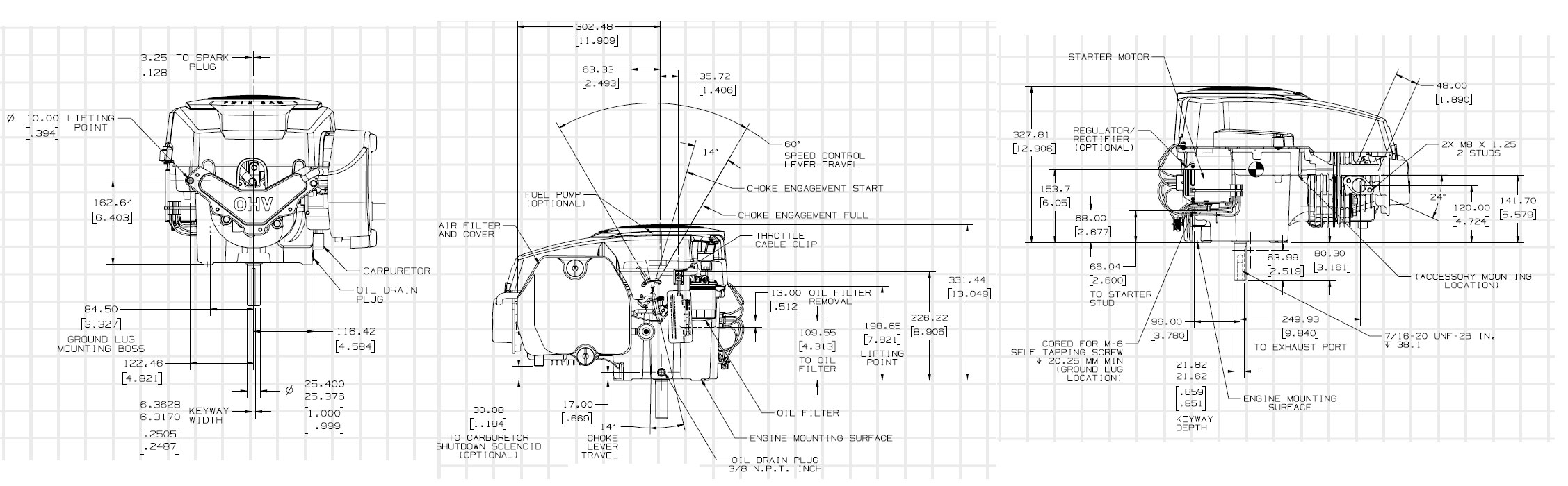 Kohler Courage Series Gasoline Engine Sv480 15 5 Diagram