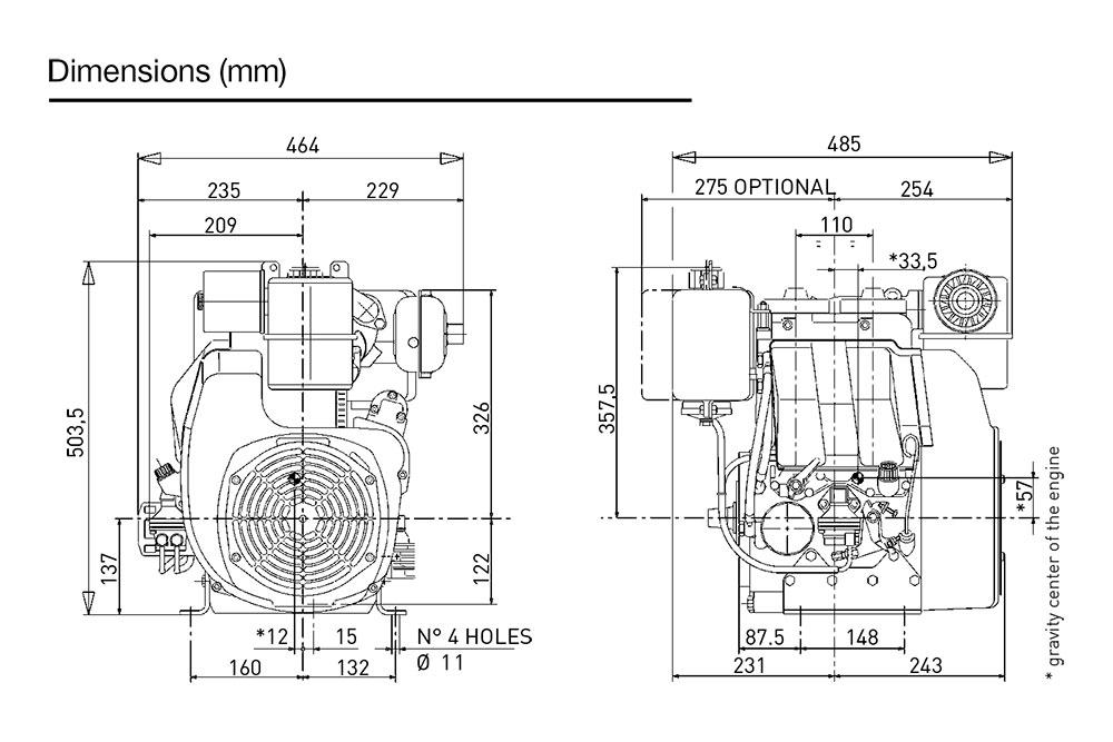 kohler kd 425  2 diesel engine  air