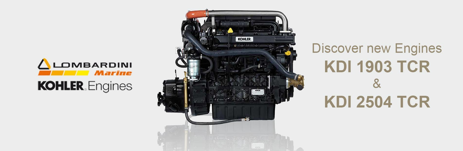 New Lombardini Marine- Kohler KDI Engines